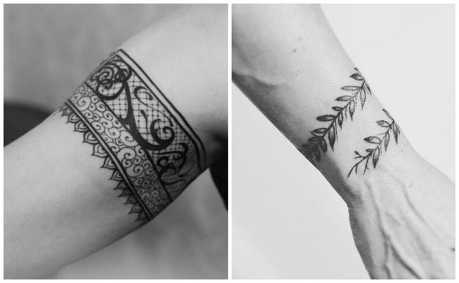 Tatuajes de pulseras en los pies