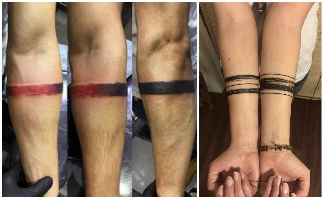 Tatuajes de pulseras tobilleras