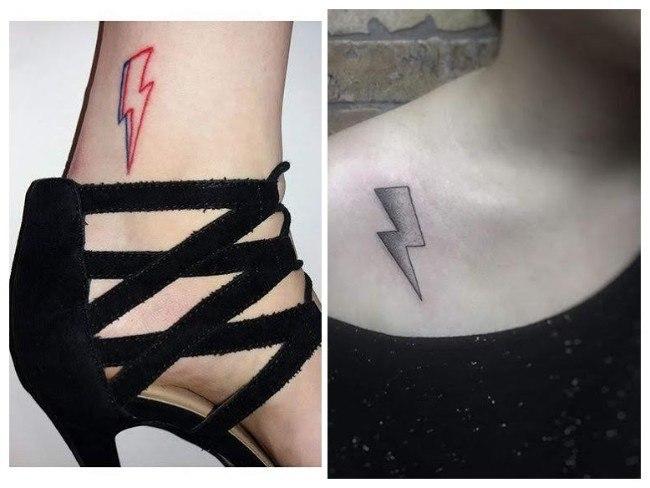 Tatuajes de rayos a color