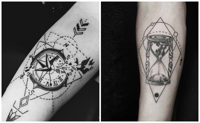 Tatuajes de relojes con alas
