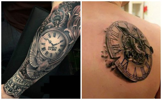 Tatuajes de relojes con frases