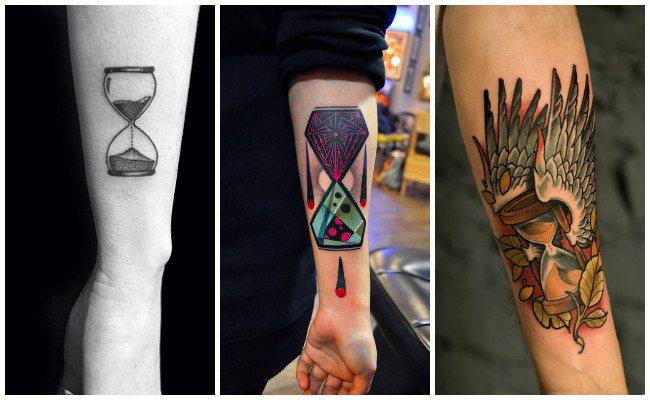 Tatuajes de relojes del tiempo