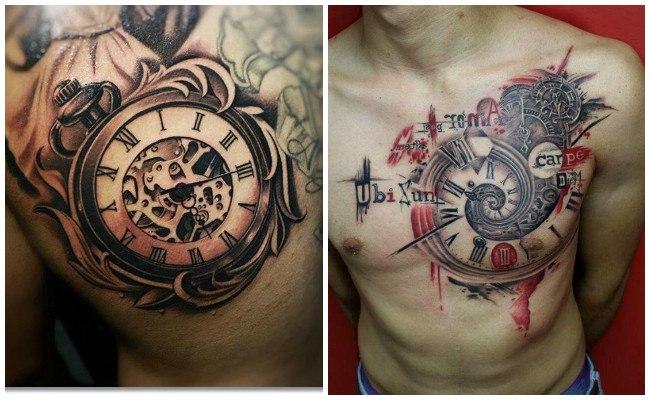 Tatuajes de relojes en el brazo