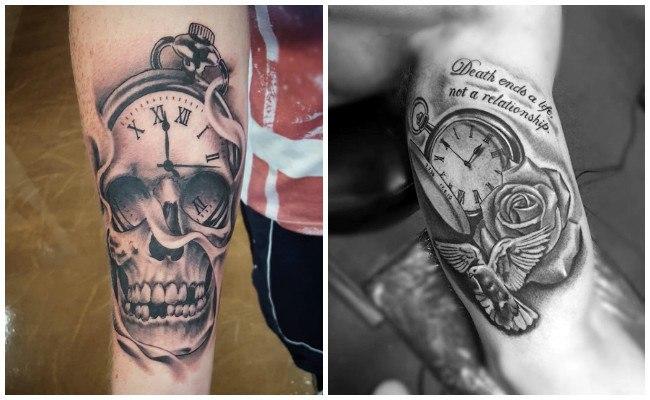 Tatuajes de relojes mecánicos