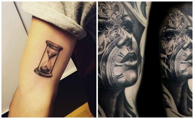 Tatuajes de relojes y brújulas