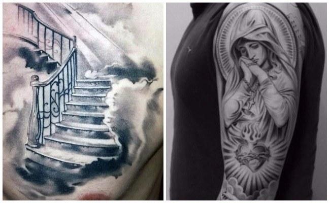 Tatuajes de rosarios en el cuello