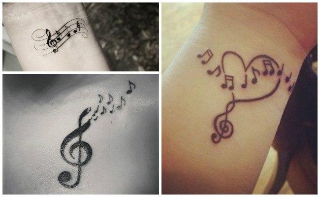Tatuajes de signos de música