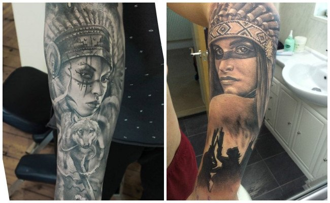 Tatuajes de símbolos indios