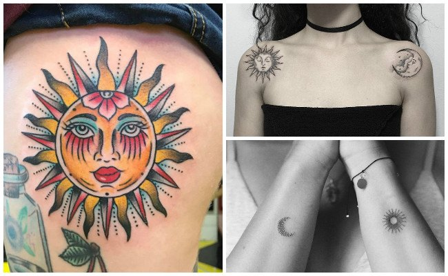 Tatuajes de sol a color