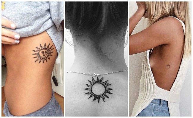Tatuajes de sol y estrellas