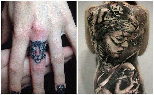 Tatuajes de tigres de bengala