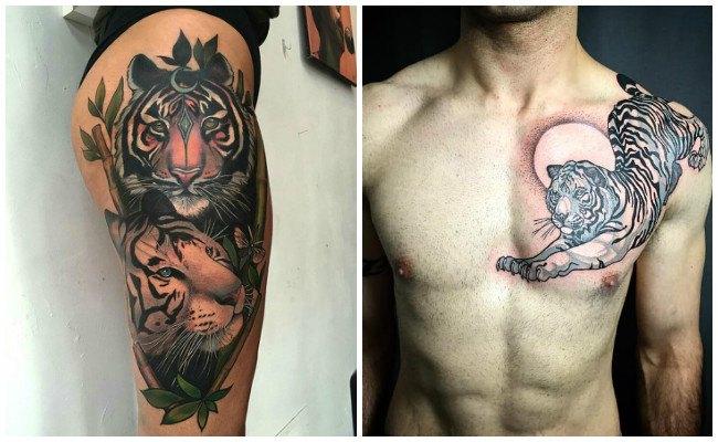 Tatuajes de tigres y sus garras