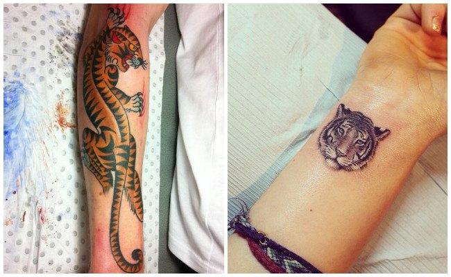Fotos de tatuajes de tigres para mujeres