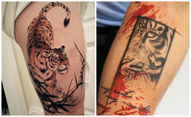 Tatuajes de tigres realistas