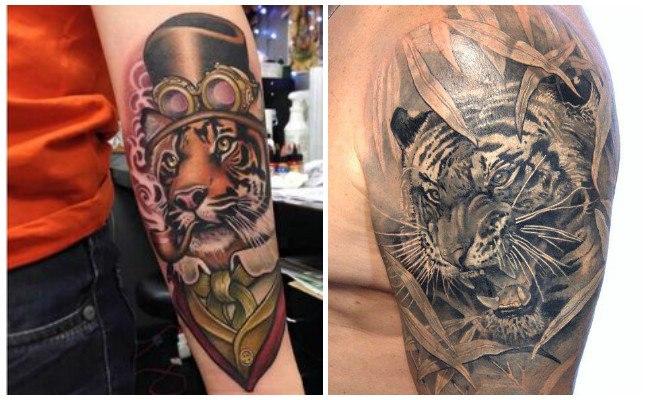 Tatuajes de tigres tribales