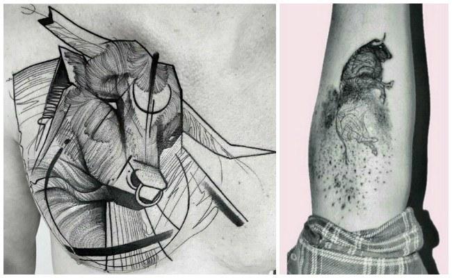 Tatuajes de toros bravos