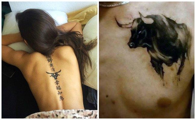Tatuajes de toros en el brazo
