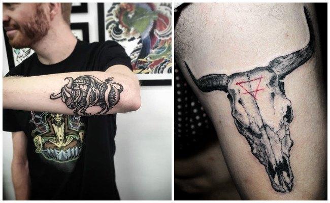 Tatuajes de toros en el pecho