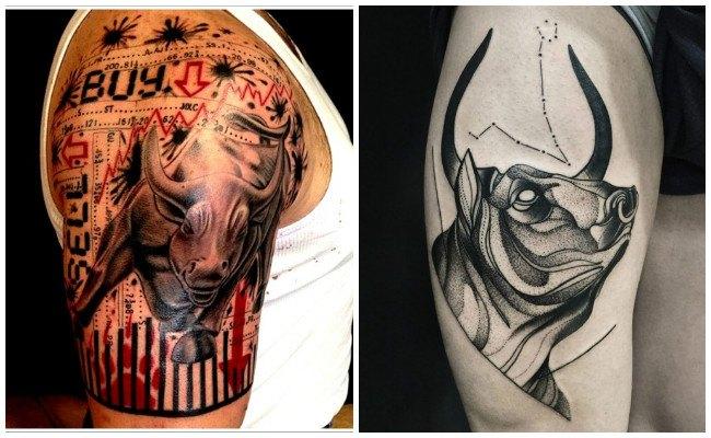 Tatuajes de toros en la espalda
