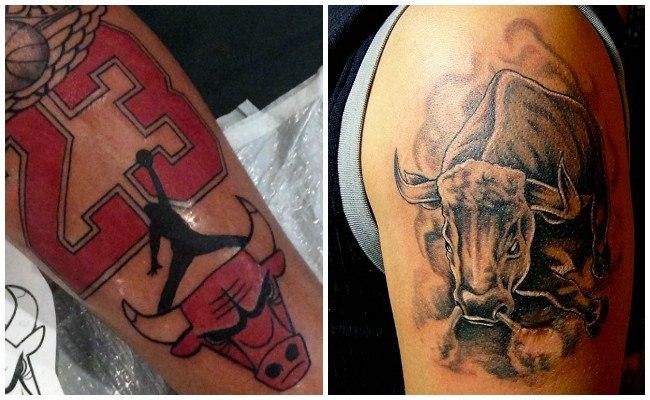 Tatuajes de toros en la pierna