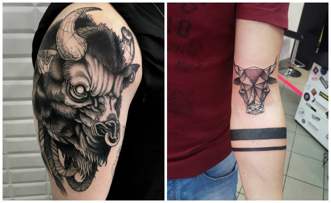 Tatuajes de toros con tribales