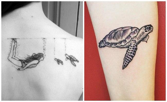 Tatuajes de tortugas en 3d