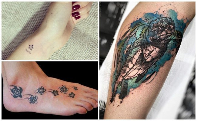 Tatuajes de tortugas aztecas