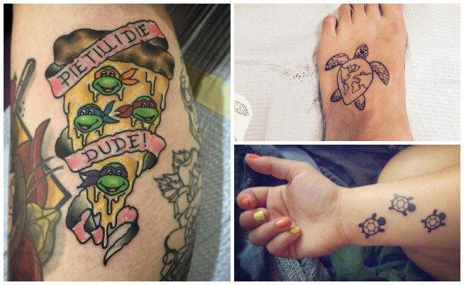 Tatuajes de tortugas de agua