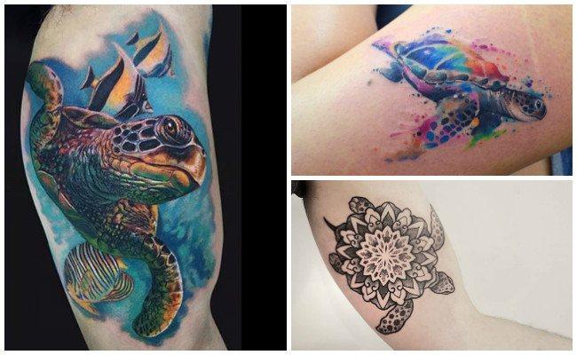 tatuajes de tortugas marinas para hombres y mujeres