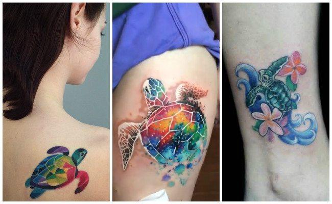Tatuajes de tortugas para mujeres