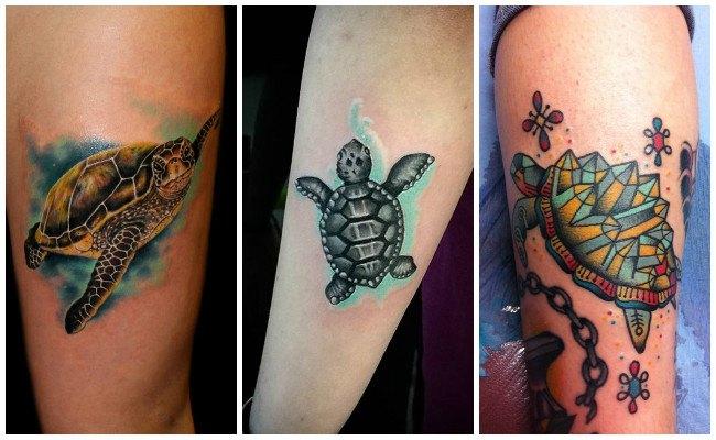 Tatuajes de tortugas polinesios