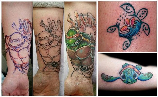 Tatuajes de tortugas tradicionales