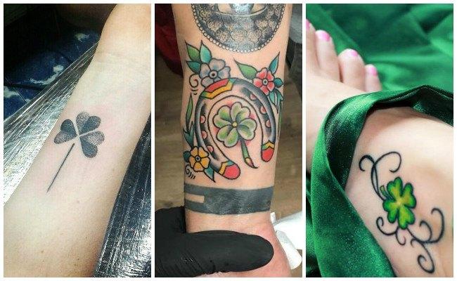 Tatuajes de trébol de 4 hojas