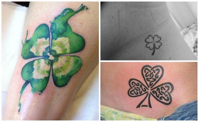 El Trébol De 4 Hojas Uno De Los Tatuajes De La Suerte Más Comunes