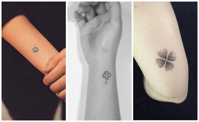 Tatuajes de tréboles de 4 hojas