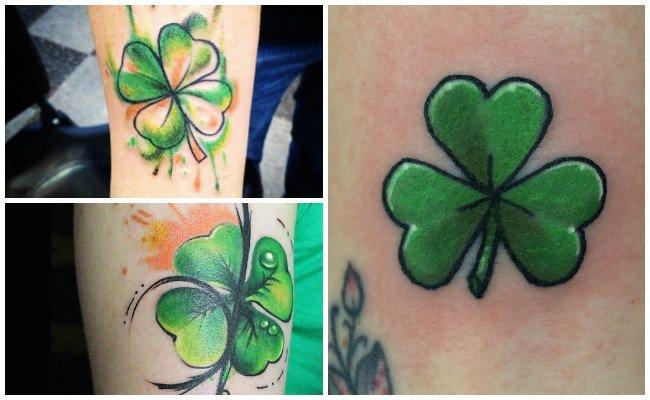 Tatuajes de tréboles a color