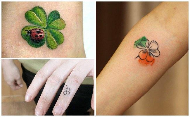 Tatuajes de tréboles con iniciales