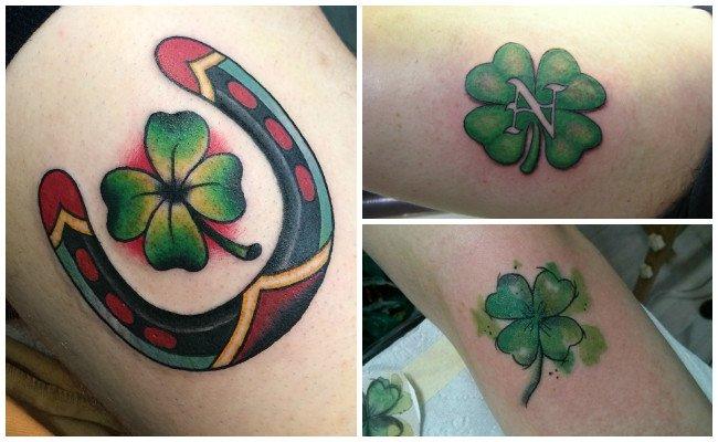 Tatuajes de tréboles con letras