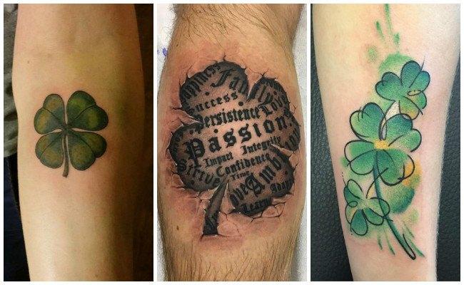 Tatuajes de tréboles de 3 hojas