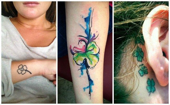 Tatuajes de tréboles con 4 hojas