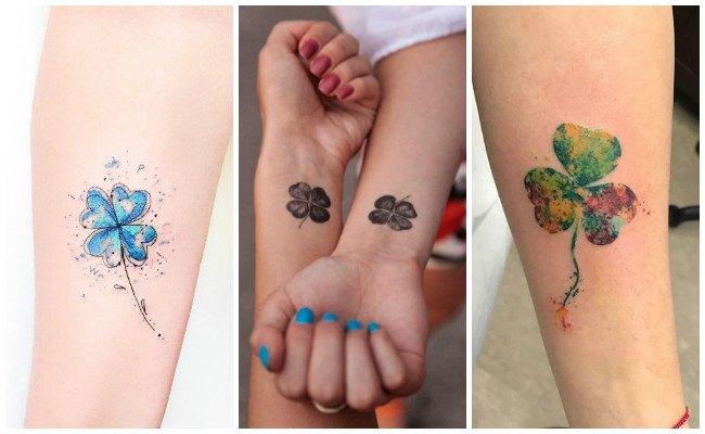 Tatuajes de tréboles de la suerte