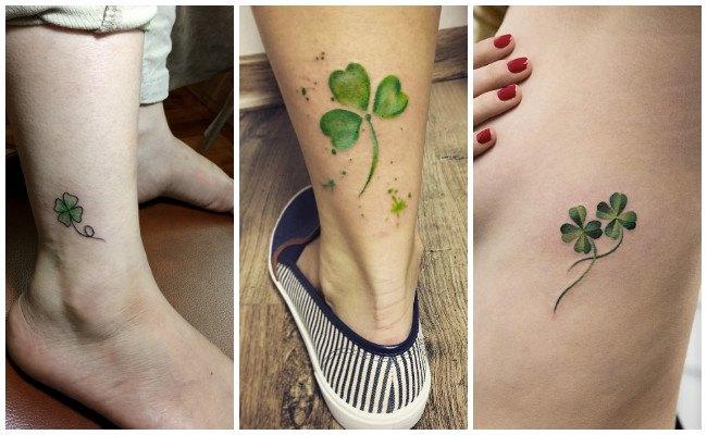 Tatuajes de tréboles con diseños