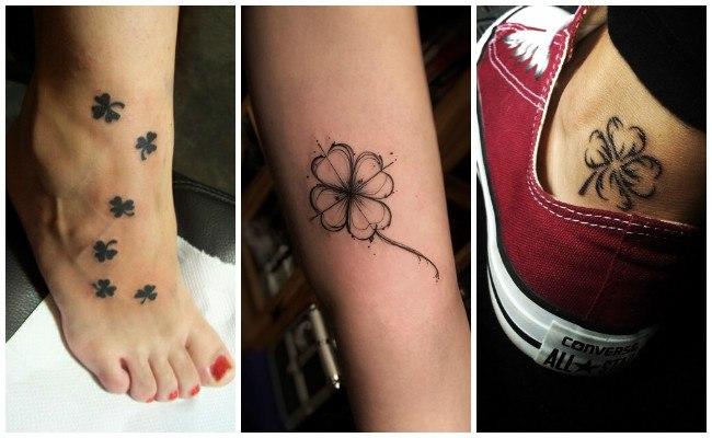 Tatuajes de tréboles en el brazo