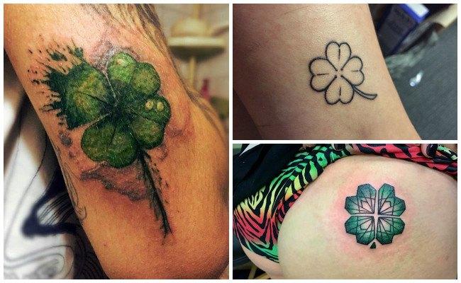 Tatuajes de tréboles en la espalda