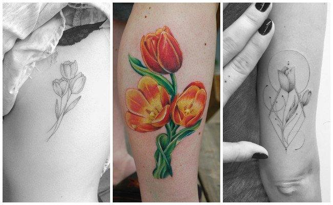 Tatuajes de tulipanes con imágenes