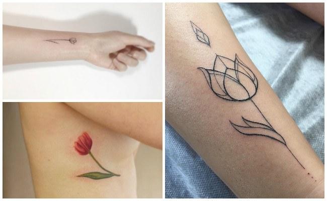 tatuajes para mujeres tulipanes