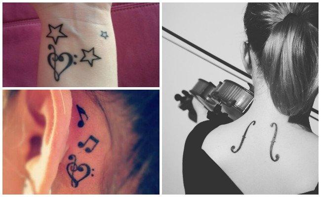 Tatuajes de una nota musical