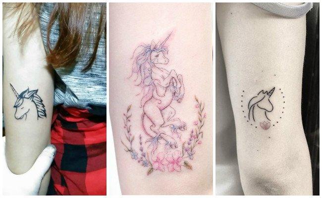 Tatuajes de unicornios en el brazo