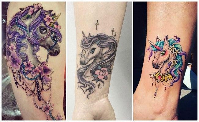Tatuajes de unicornios graciosos