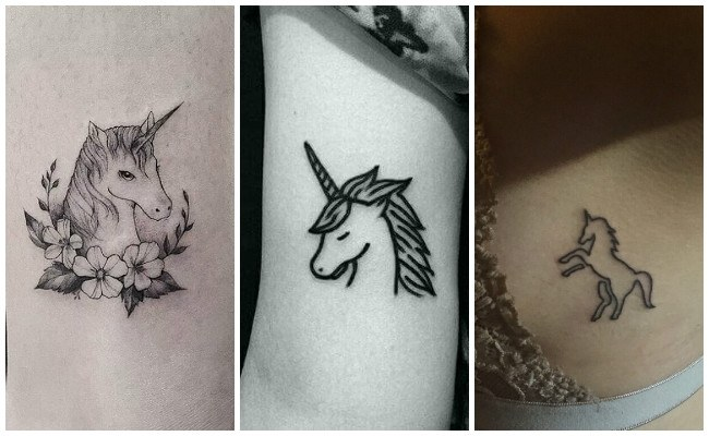Tatuajes de unicornios para hombres